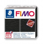 Modelina Fimo Leather Effect 57g, kolor 909 BLACK - CZARNY