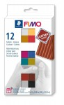 Zestaw modelin FIMO LEATHER EFFECT 12 x 25 g