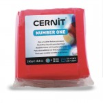 Modelina Cernit Number One 250g, kolor 400 RED - CZERWONY