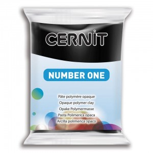 Modelina Cernit Number One 56g, kolor 100 BLACK - CZARNY