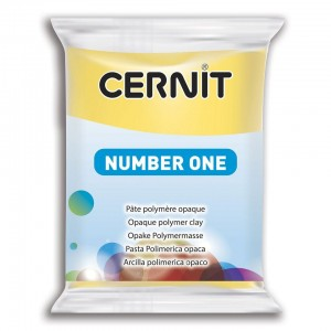 Modelina Cernit Number One 56g, kolor 700 YELLOW - ŻÓŁTY