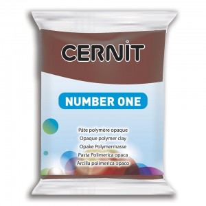 Modelina Cernit Number One 56g, kolor 800 BROWN - BRĄZOWY
