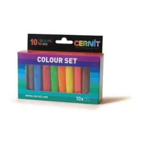 zestaw modelin Cernit NUMBER ONE COLOUR SET 10 x 30g