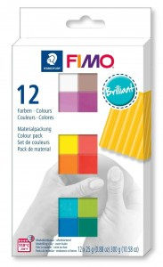 Zestaw modelin FIMO BRILLANT COLOURS 12 x 25g