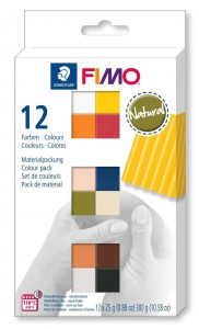 Zestaw modelin FIMO NATURAL COLOURS 12 x 25g