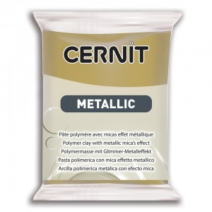Modelina Cernit Metallic 56g, kolor 055 ANTIQUE GOLD - metaliczny STARE ZŁOTO